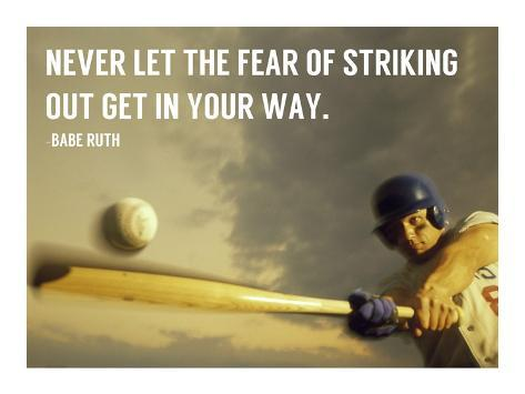 The Fear of Striking Out -Babe Ruth Kunstdruck
