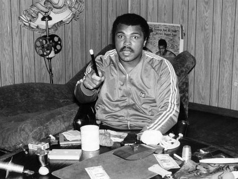 Defiant Muhammad Ali, 1980 Fotografie-Druck