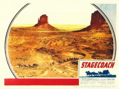 Stagecoach, 1939 Kunstdruk