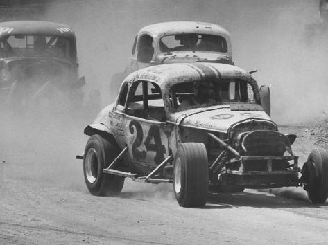 Semi Pro Stockcar Racing Fotografie-Druck