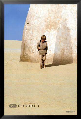 Star Wars – Die dunkle Bedrohung Laminiertes gerahmtes Poster