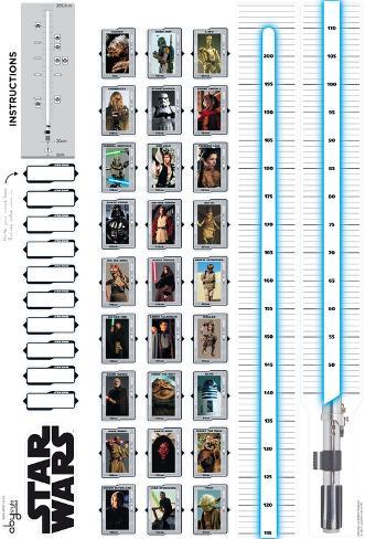 Star Wars - Growth Chart Wandtattoo