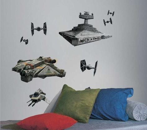 Star Wars Rebel & Imperial Ships Peel and Stick Giant Wall Decals Wandtattoo
