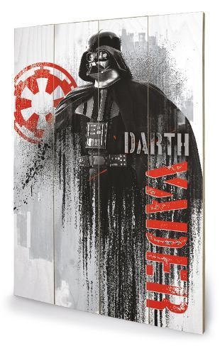 Star Wars Rogue One - Darth Vader Grunge Holzschild