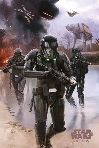 Star Wars Rogue One - Death Trooper Beach Poster