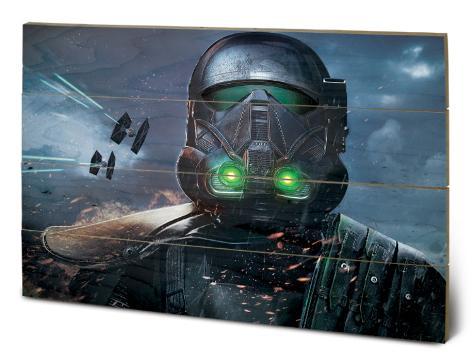 Star Wars Rogue One - Death Trooper Glow Holzschild