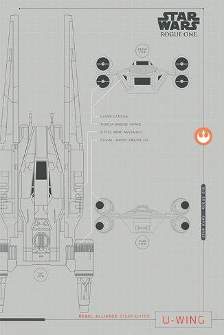 Star Wars Rogue One - U-Wing Plans Poster