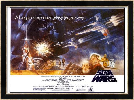 Star Wars Gerahmtes Poster