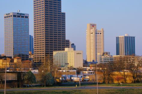 State capital and skyline in Little Rock, Arkansas Fotografie-Druck