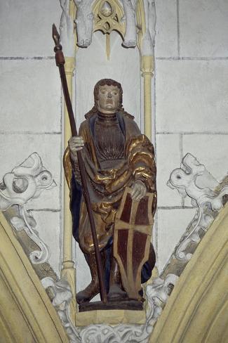 Statue from Late-Romanesque St Hippolytus Church, Zell Am See, Salzburgerland, Austria Giclée-Druck