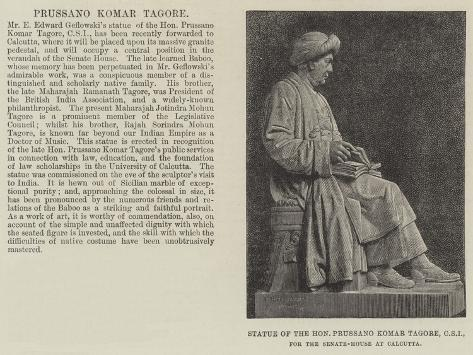 Statue of the Honourable Prussano Komar Tagore, Csi, for the Senate-House at Calcutta Giclée-Druck