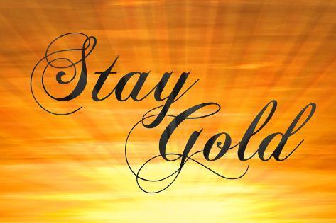 Stay Gold Ponyboy Poster