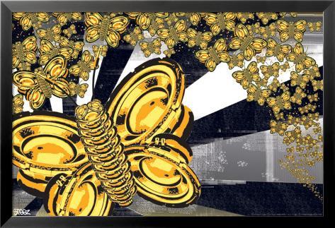 Steez-Butterflies Laminiertes gerahmtes Poster