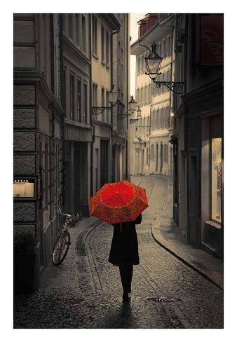 Red Rain Kunstdruck