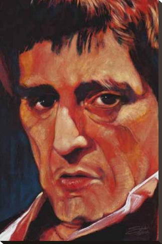 Stephen Fishwick Pacino Art Print Poster Bedruckte aufgespannte Leinwand