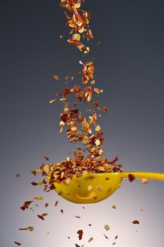 1 Tablespoon Red Pepper Flakes Fotografie-Druck