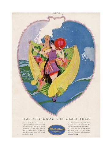 Stocking Advert 1924 Giclée-Druck