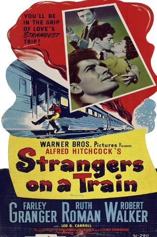 STRANGERS ON A TRAIN Kunstdruck