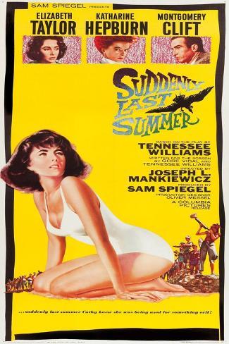 Suddenly Last Summer, Elizabeth Taylor, Katharine Hepburn, Montgomery Clift, 1959 Kunstdruck