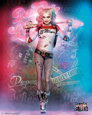 Suicide Squad- Harley Quinn Neon Graffiti Mini-Poster