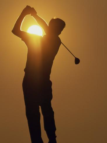 Sunset Golf Silhouette Fotografie Druck Bei Allposters De