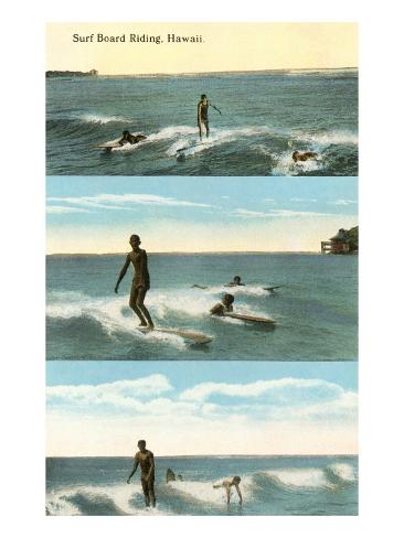 Surfing Scenes, Hawaii Kunstdruck