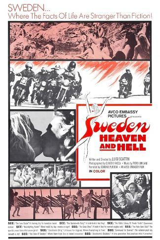 SWEDEN, HEAVEN AND HELL, (aka SVEZIA, INFERNO E PARADISO), 1968 Kunstdruck