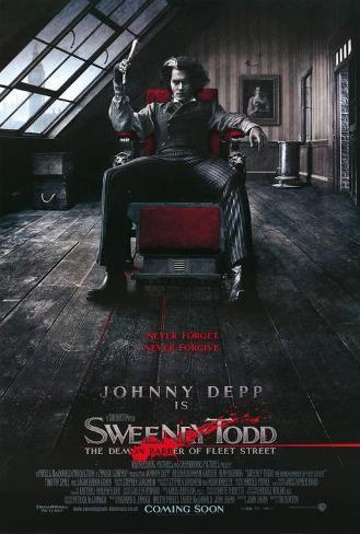 Sweeney Todd – Der teuflische Barbier aus der Fleet Street, Englisch Poster
