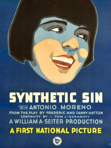 SYNTHETIC SIN, Colleen Moore, 1929. Kunstdruck