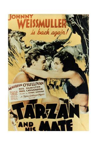 Tarzan And His Mate, 1934, Directed by Cedric Gibbons Giclée-Druck