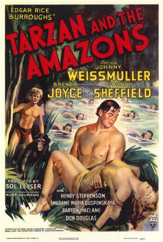 Tarzan and the Amazons Masterprint