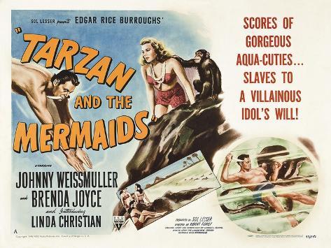 Tarzan and the Mermaids Kunstdruck