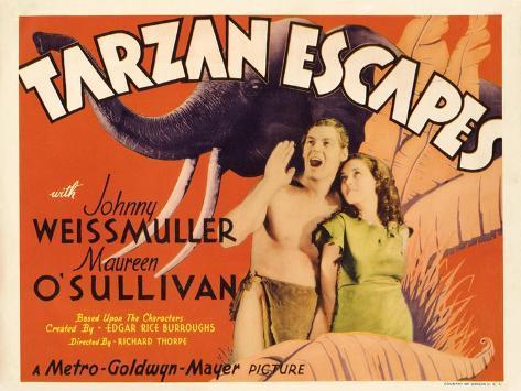 Tarzan Escapes, 1936 Kunstdruk
