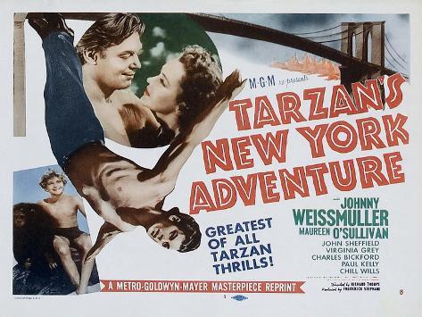 Tarzan's New York Adventure, 1942 Premium gicléedruk