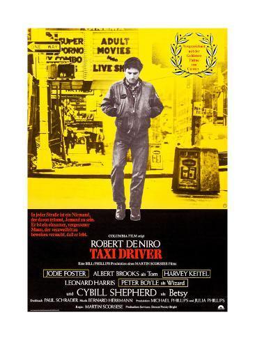 Taxi Driver, German Poster Art, Robert De Niro, 1976 Giclée-Druck