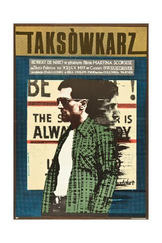 Taxi Driver, Robert De Niro on Polish Poster Art, 1976 Giclée-Druck