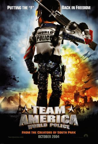 Team America: World Police (Advance) Doppelseitiges Poster