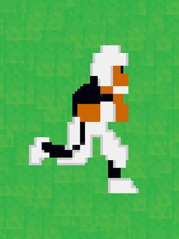 Tecmo Super Bo 8-bit Hall of Fame Poster