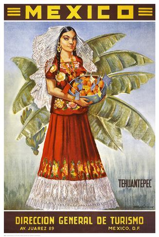 Tehuantepec, Mexico Kunstdruck