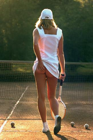 Tennis-Mädchen Poster