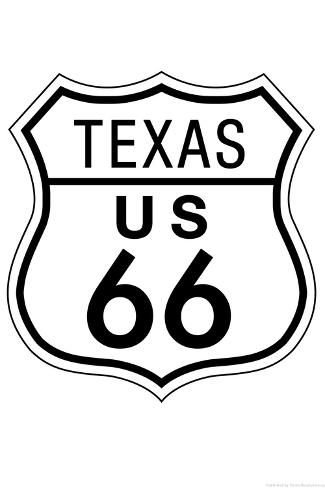 Texas Route 66 Sign Art Poster Print Posters Bij Allposters
