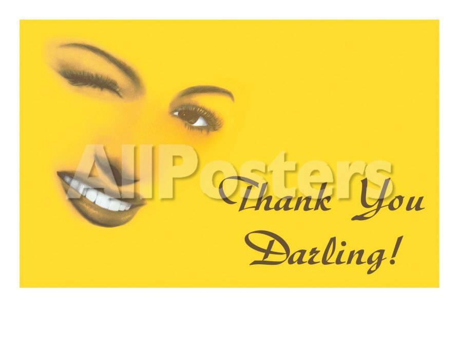 Thank You Darling Winking Womans Features Kunst Bij Allpostersnl