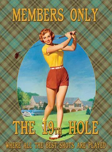 The 19th Hole Blechschild