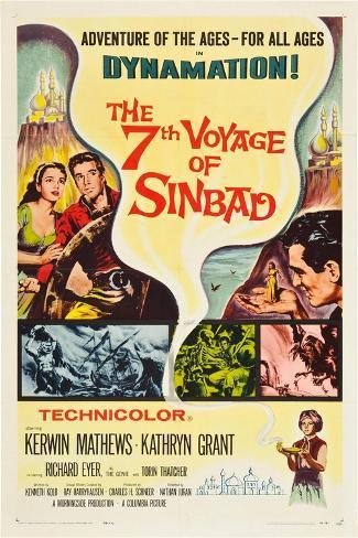 THE 7TH VOYAGE OF SINBAD (aka THE SEVENTH VOYAGE OF SINBAD) Kunstdruck