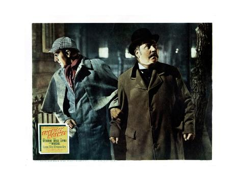 The Adventures of Sherlock Holmes, from Left, Basil Rathbone, Nigel Bruce, 1939 Giclée-Druck