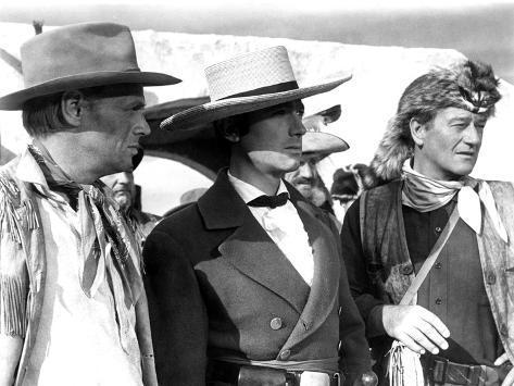 The Alamo, Richard Widmark, Laurence Harvey, John Wayne, 1960 Foto