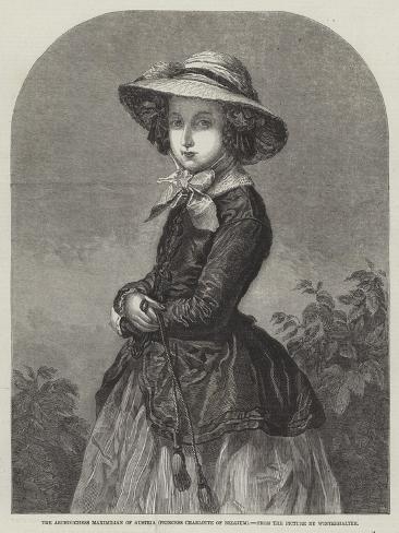 The Archduchess Maximilian of Austria, Princess Charlotte of Belgium Giclée-Druck