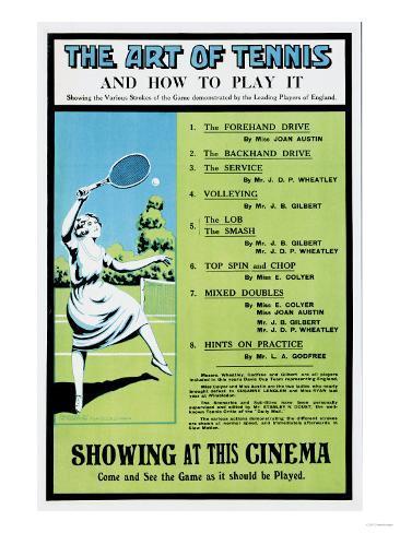 The Art of Tennis Giclée-Druck