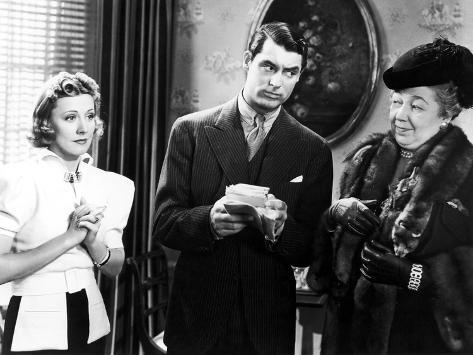 The Awful Truth, Irene Dunne, Cary Grant, Esther Dale, 1937 Foto