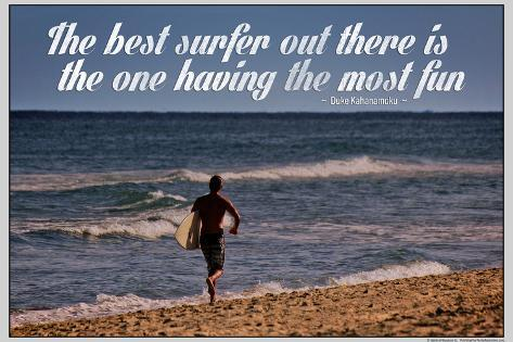 The Best Surfer Duke Kahanamoku Quote Poster Foto